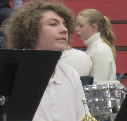 Tyler on the trumpet at the 10th Annual San Lorenzo Valley District Wide Band Festival - 28MAY19