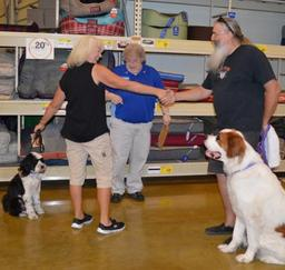 Penny assisting at PetsMart -  09OCT14