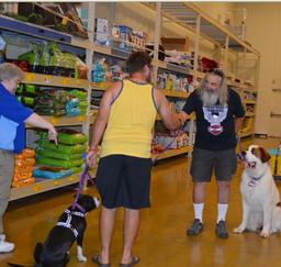 Penny assisting at PetsMart - 08AUG15