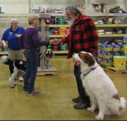 Penny assisting at PetsMart - 18MAR18