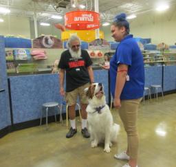 Penny assisting at PetsMart - 12JUN18