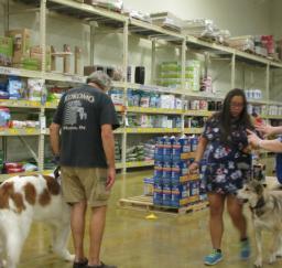 Penny assisting at PetsMart - 10JUL18
