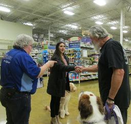 Penny assisting at PetsMart - 19MAR19