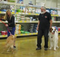 Penny assisting at PetsMart - 24MAR19
