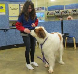 Penny assisting at PetsMart - 26MAR19