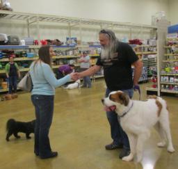 Penny assisting at PetsMart - 23JAN16